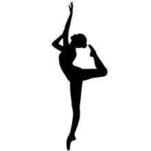 Ballerina Dancer Silhouette, B...