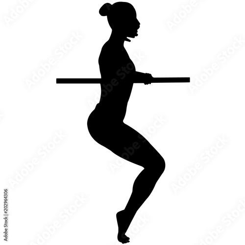 Barre Silhouette Clipart Male Female Girl Boy Fitness Vector Svg