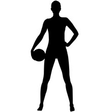 Woman Beach Volleyball Silhouette, Female Beach Volleyball Clipart, Girl Sports Vector, Girls Svg, Png, Eps,   Jpg
