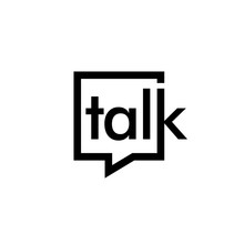 Talk Lettering Letter Mark On Chat Bubble Icon Logo Vector Sign