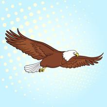 Pop Art Background Bird Eagle,...