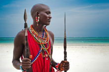 Portrait Of A Maasai Warrior I...
