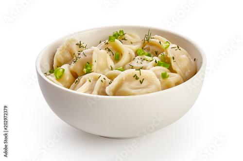 Photo  Bowl with tasty dumplings