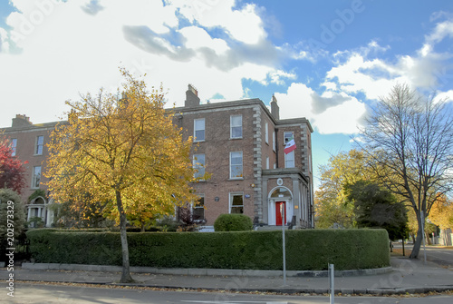 Zdjęcie XXL Dublin, Irlandia, 27 października 2012 r .: Budynki i widok na ulicę