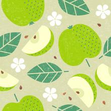 Seamless Pattern. Apple Juicy ...