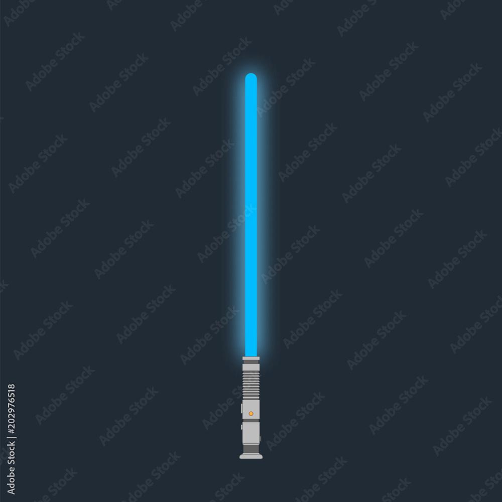 Fotografie, Obraz Lightsaber. Futuristic laser weapon sci-fi light saber