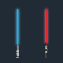 Lightsaber. Set Of Futuristic ...