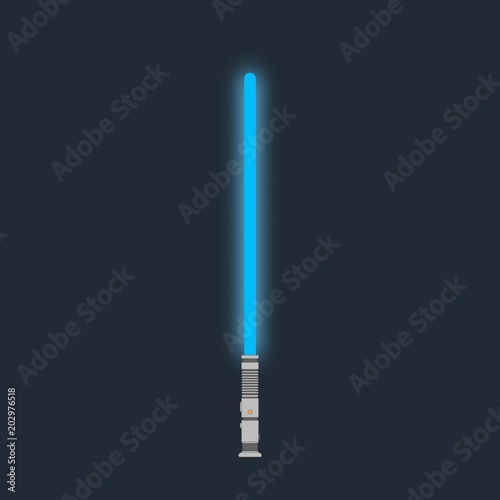 Lightsaber. Futuristic laser weapon sci-fi light saber Canvas-taulu