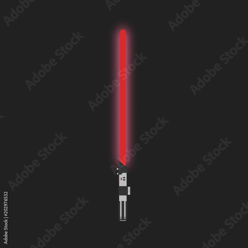 Fototapeta Lightsaber. Futuristic laser weapon sci-fi light saber