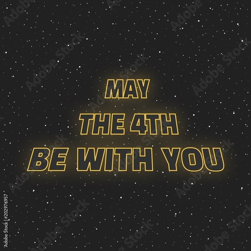 May the 4th be with you Canvas Print