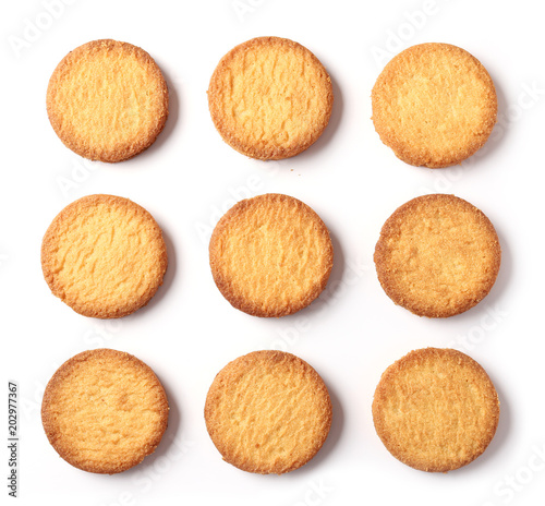 Photo butter cookies on white background