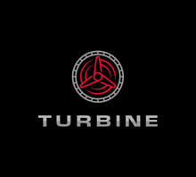 Turbine, Turbine Vector For Logo Concept  - Vector Illustration Download