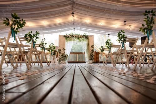 Wedding arch for wedding ceremony Fototapet