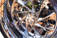 Motorcycle Close-up. Detail Of...