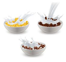 Realistic Breakfast Cereals Mi...