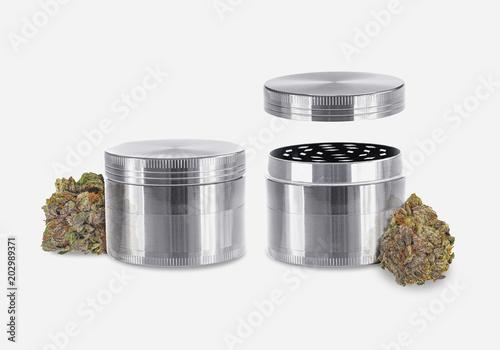 Medical Cannabis - Marijuana Herb Grinder Set - Isolated Fototapete