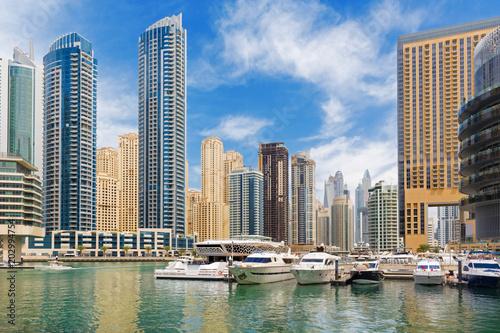 Papiers peints Batiment Urbain Dubai - The promenade of Marina.