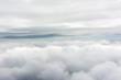 Clouds through an airplane window