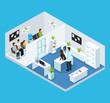 Isometric Veterinary Clinic Concept