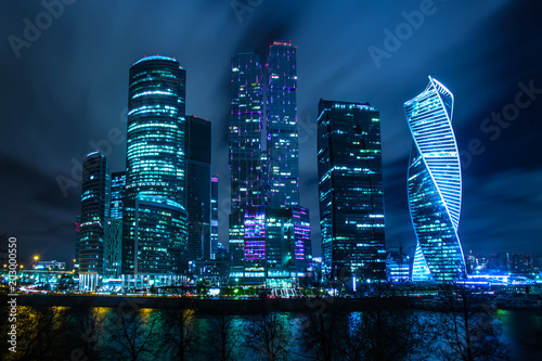 Keuken foto achterwand Stad gebouw new buildings of Moscow business center Moscow city at night