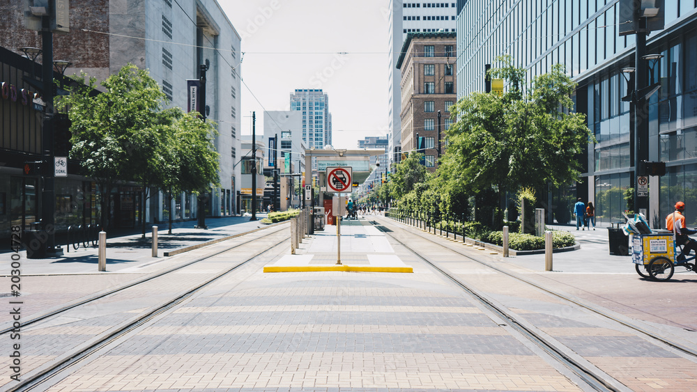 Fototapety, obrazy: park city street