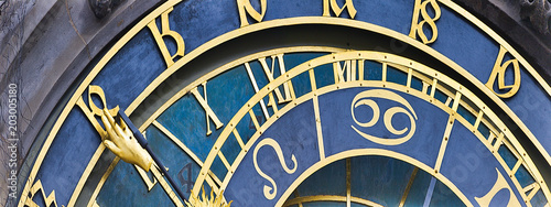Details of  clock of Prague