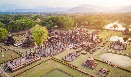 Fotografie, Obraz Sukhothai Historical Park in Sukhothai province Northern of Thailand