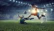 Leinwanddruck Bild - Soccer best moments. Mixed media