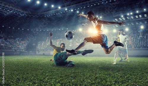Fotografie, Obraz  Soccer best moments. Mixed media