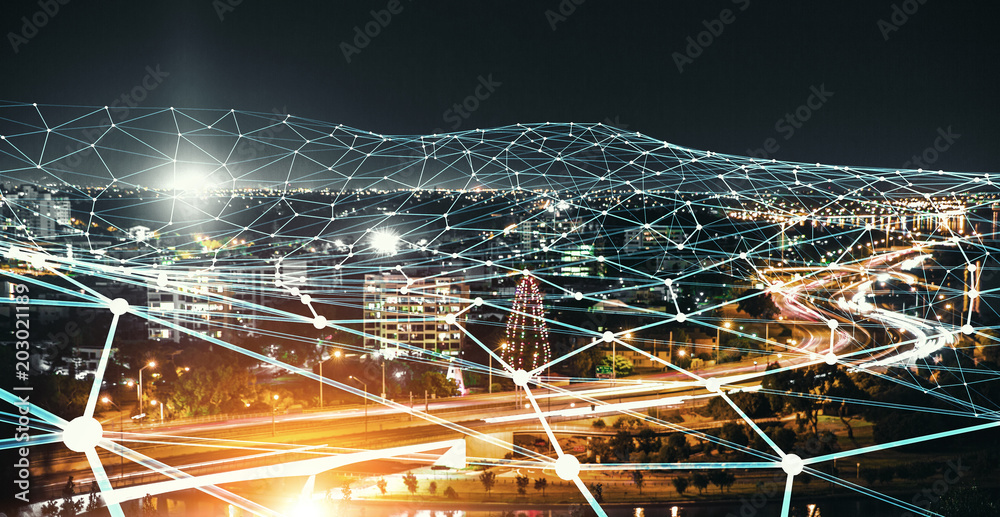 Fototapety, obrazy: Wireless communication and networking