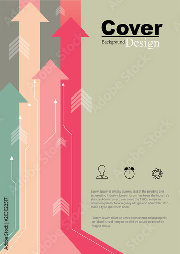Book Cover Business Growth Concept Design Canvas Print