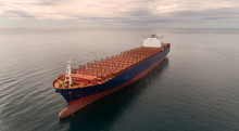 Container Ship Standing On The...