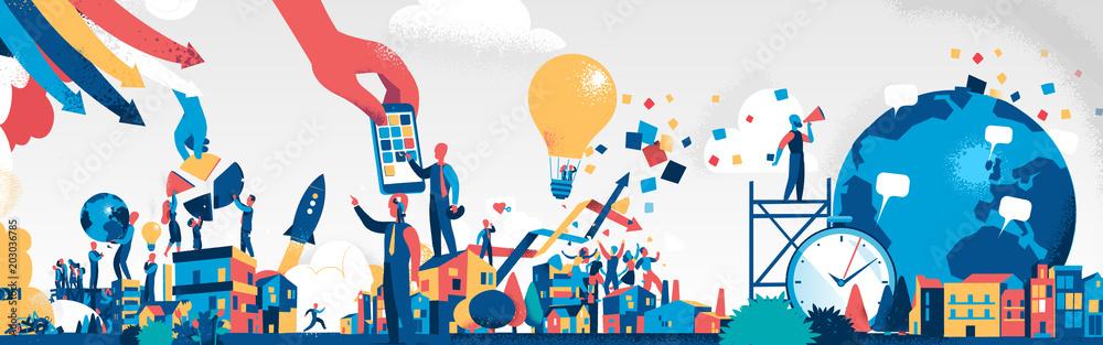 Fototapeta Società dell'Innovazione e della Comunicazione