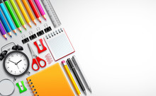 Back To School Vector Template...