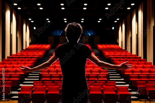 Fotografie, Obraz  Young actor in a theater.