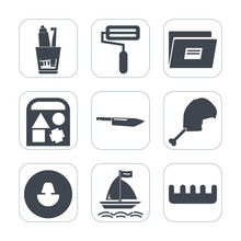 Premium Fill Icons Set On White Background . Such As Avatar, Hair, Chicken, Kitchen, Toy, File, Food, Comb, Restaurant, Business, Paper, Web, Knife, Dental, Toothpaste, Human, Health, Car, Brush, Meat