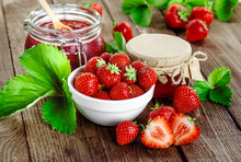 Homemade Strawberry Jam Or Mar...