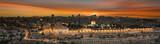 Fototapeta Miasto - jerusalem city by sunset