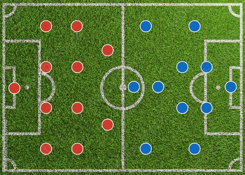 Fussball Aufstellung Als Spielsystem Grafik Auf Spielfeld