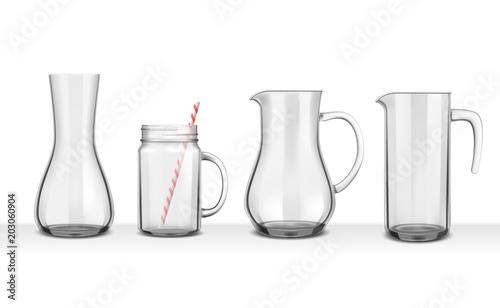 Fototapeta Four Smooth Glass Jugs  obraz
