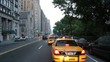 High-speed driver's POV of streets near Columbus Circle, NYC