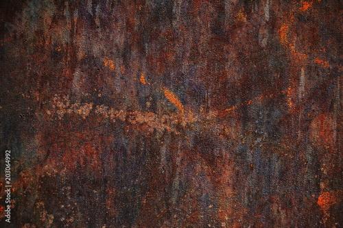 Corten Steel Texture Rustic Plate Weathering Rusted Metal Brown And