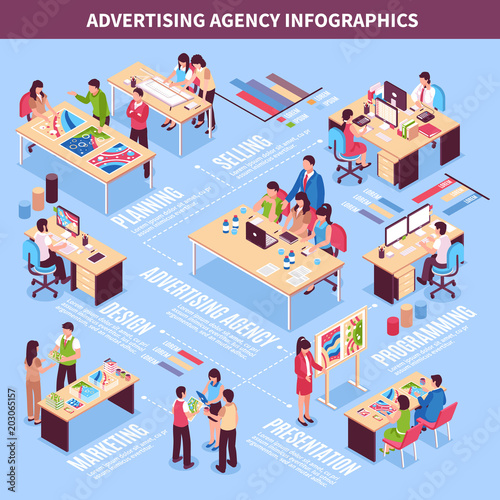 Photo  Advertising Agency Infographics Layout