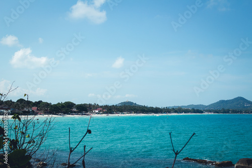 Deurstickers Eiland Samui Island sea blue paradise
