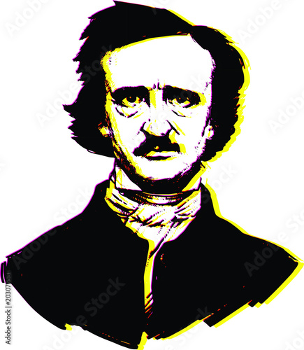 Illustration by Edgar Allan Poe Wallpaper Mural