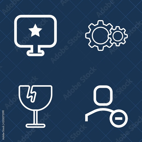 Premium set of outline vector icons  Such as pattern, sign