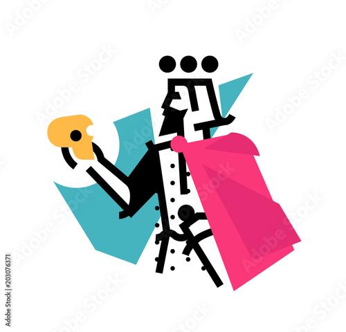 Fotografie, Obraz  Logo for theatrical studio
