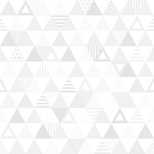 Seamless Pattern Triangle. 三...