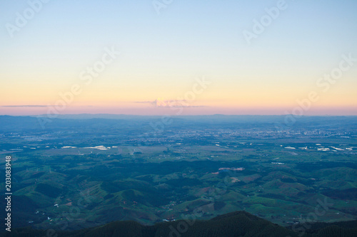 View from Pico Agudo in the end of the afternoon Canvas Print