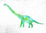 Fototapeta Dinusie - Dynosaur brachiosaurus vivid